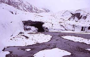 Ice-cave, source of Oxus River, Wakhjir Valley, August 3, 2004